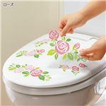 (まとめ) 壁にも貼れるトイレの消臭シート ローズ 【×3セット】の詳細ページへ