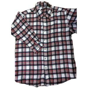 お得 肉厚カジュアルシャツ ホワイトチェック