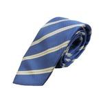 秋冬シルクネクタイ Clarkプレミアム 手縫い仕立て 西陣ネクタイ メランジブルー×ストライプの詳細ページへ