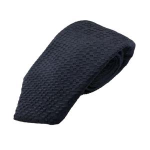 秋冬シルクネクタイ Clarkプレミアム 手縫い仕立て 西陣ネクタイ ネイビー×柄