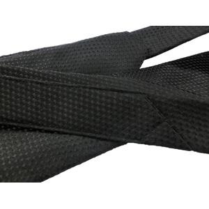 秋冬シルクネクタイ Clarkプレミアム 手縫い仕立て 西陣ネクタイ ブラック×柄