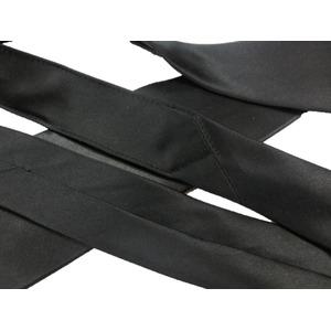 希少限定生地 シルクネクタイ Clarkプレミアム 手縫い仕立て 西陣ネクタイ サテン ブラック