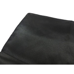 希少限定生地 シルクネクタイ&チーフセット Clarkプレミアム 手縫い仕立て 西陣ネクタイ サテン ブラック
