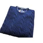 イタリア製 DANNIELE BLASI ケーブルセーター ブルー M の詳細ページへ
