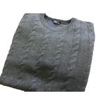 イタリア製 fibretex ケーブルセーター グレー Lの詳細ページへ