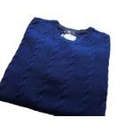 イタリア製 fibretex ケーブルセーター ブルー Lの詳細ページへ