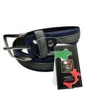イタリア製レザーハンドメイドベルト ツートン仕様 ブルーの詳細ページへ