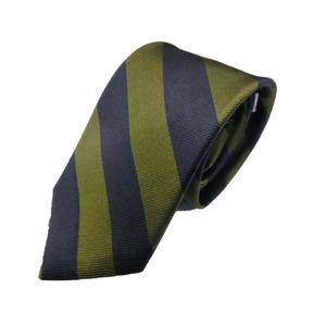 日本製シルク100%ネクタイ トラッド ネイビー×グリーン