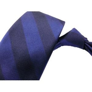 日本製シルク100%ネクタイ トラッド ネイビー×ブルー