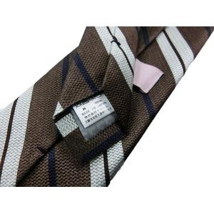 日本製シルク100%ネクタイ ブラウン