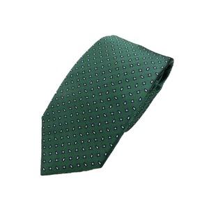 日本製シルク100%ネクタイ グリーン ペイズリー&小紋