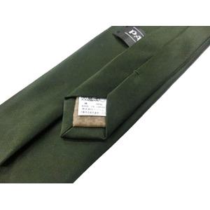 日本製シルク100%ネクタイ 抹茶 無地 サテン