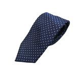日本製シルク100%ネクタイ ネイビー×小柄 の詳細ページへ