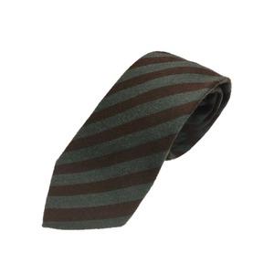 ウール混グランネクタイ 西陣手縫いネクタイ 抹茶×ブラウン