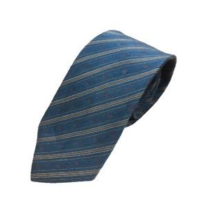 リネン混グランネクタイ 西陣手縫いネクタイ スカイブルー