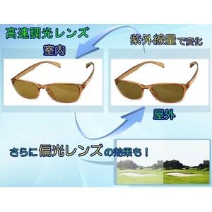 【調光偏光サングラス】 空気のように軽いエアリーフレーム ブラックver 福井県鯖江産レンズ Transhade使用 ケース進呈