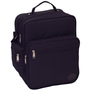 マチが広いのでA4サイズ書類 弁当箱などが 楽々入るビジネスバッグ IK8110 ブラック