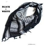 綿100%アラブスカーデッドストック ・ ブラック×ホワイトの詳細ページへ