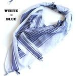 綿100%アラブスカーデッドストック ・ ホワイト×ブルーの詳細ページへ