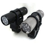 9 LED自転車ホルダー付きフラッシュ ライトガンスモーク( グレー)の詳細ページへ