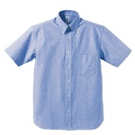 クールビズ対応オックスフォードボタンダウン半袖シャツ CB1068 O X ブルー Sサイズの詳細ページへ