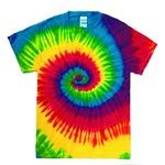 レインボーマルチカラー タイダイTシャツ L リアクティブレインボーの詳細ページへ