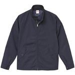 テカリを抑えた綿混・撥水加工、防風加工、裏地付スウィンブトップジャケット ネイビー Lの詳細ページへ