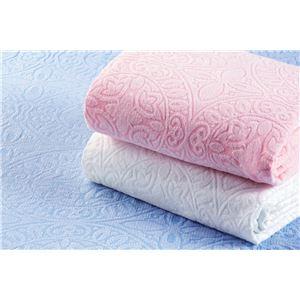今治産ジャカード織タオルシーツ 3色組(ブルー・ピンク・ホワイト) シングル