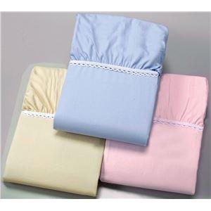【京都西川】綿100%ベッドシーツ ブルー セミダブル