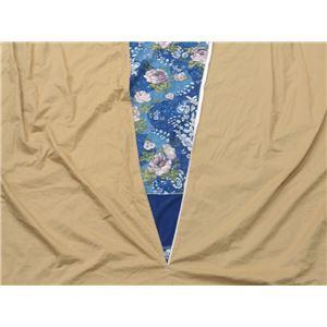 ベロアパッチワークこたつ布団カバー ブルー 205×245cm