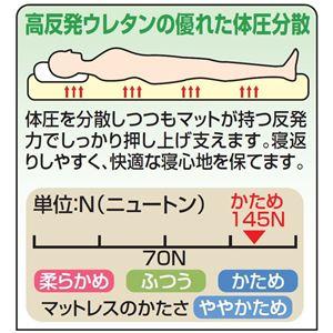 <ジャパンスリーパー>日本製プロファイル加工高反発マットレスブラウン ダブル