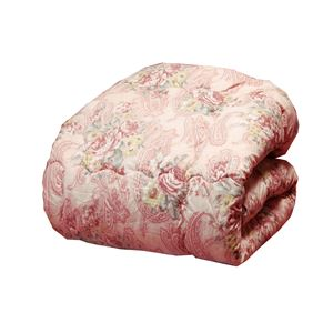 ボリュームウール混掛け布団/寝具 【シングルサイズ ピンク】 防ダニ・抗菌防臭加工 日本製