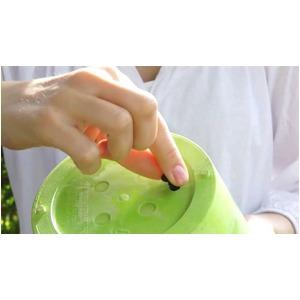 底面給水型植木鉢/プランター アートストーン 【ハンギング/φ25cm】 底栓付 ホワイト(白) 〔ガーデニング用品/園芸〕