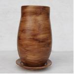 インテリアポット 陶器製植木鉢 ウィート トールボール 16cm ライトブラウン 皿付の詳細ページへ