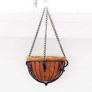 カルチベーター ワイヤーハンギングバスケット 銀黒色 M φ25cm
