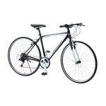 クロスバイク 700c(約28インチ)/ブラック(黒) シマノ6段変速 重さ13.0kg アルミフレーム 【CHEVY】 AL-CRB7006NXの詳細ページへ