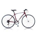 クロスバイク 700c(約28インチ)/レッド(赤) シマノ6段変速 重さ13.0kg アルミフレーム 【CHEVY】 AL-CRB7006NXの詳細ページへ