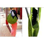 ★dean(ディーン) circle bag レザーバッグ olive(緑)