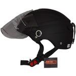 スタイリッシュな開閉式シールド付きハーフヘルメット マットブラックの詳細ページへ