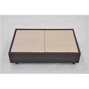 フタ付インナーBOX ブラウン/アイボリー