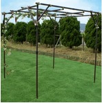 ガーデンアグリパイプ(果樹棚セット/園芸棚) 幅200cm×奥行200cm×高さ250cm日本製 〔ガーデニング 家庭菜園 園芸〕の詳細ページへ
