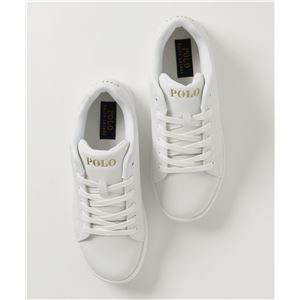 POLO RALPH LAUREN QUINCEY COURT スニーカー WHITE サイズ:24.5cm