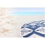 ビーチタオル 150×150 直径150 ネイビー フリースタイルケット タオル 西海岸風 マジョールの詳細ページへ