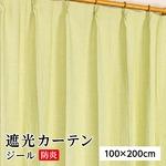 防炎 遮光カーテン 2枚組 100×200 グリーン 無地 シンプル 洗える 形状記憶 タッセル付き ジールの詳細ページへ