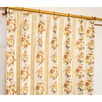 5種類から選べる遮光カーテン 2枚組 100×135 イエロー ローズ柄 花柄 洗える 形状記憶 タッセル付き ストライプフラワーの詳細ページへ