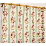 5種類から選べる遮光カーテン 2枚組 100×190 グリーン ローズ柄 花柄 洗える 形状記憶 タッセル付き ストライプフラワーの詳細ページへ