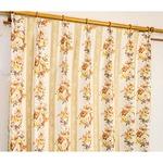 5種類から選べる遮光カーテン 1枚のみ 150×200 イエロー ローズ柄 花柄 洗える 形状記憶 タッセル付き ストライプフラワーの詳細ページへ