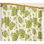 5種類から選べる遮光カーテン 2枚組 100×110 グリーン モンステラ柄 リーフ柄 洗える 形状記憶 タッセル付き 遮光モンステラの詳細ページへ