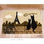 玄関マット 45×70 ベージュ 猫柄 アクリル100% パリスの詳細ページへ