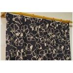 遮光カーテン 2枚組 100×178 ブラック 花柄 形状記憶 洗える アジャスターフック付き タッセル付き ダリルの詳細ページへ